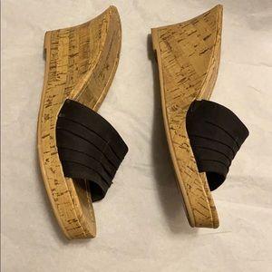 WORN ONCE Montego Bay Club black wedge heels.